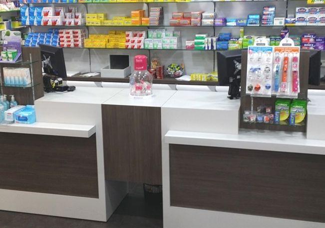 Agencement et aménagement d'espace commercial de pharmacies à Marrakech